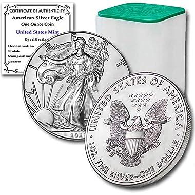 2021 Lot of (20) 1 oz Silver American Eagle Brilliant...