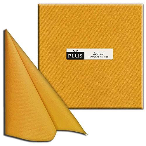 Lot de 50 serviettes unies Airlaid Protinam - En papier non tissé - Qualité supérieure comparable à celle du tissu - Pour une belle table au quotidien, pour les mariages et autres grandes occasions - 40 x 40 cm marron