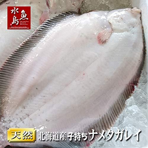 魚水島 北海道産 天然 子持ちナメタガレイ 1.4〜1.8kg 3尾(生冷凍)