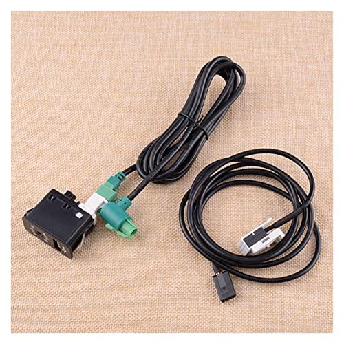 ZHUHUI YUYANGZHI Coche Negro USB AUX Interruptor de Enchufe de Enchufe Adaptador de Cables Ajuste para Mini Cooper R50 R52 R53 2001 2002 2003 2004 2005 2006