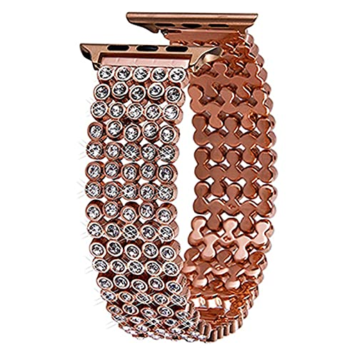 SHENGSHENG Wtaikui STOR Pulsera de Reloj for iWatch 4 5 6 SE Banda 44mm 40 mm Strap Strap Strap Fit for Apple Watch Series 3 2 1 (Band Color : Rose Gold, Band Width : For 38 and 40mm)