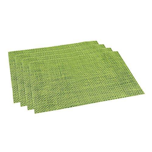 Sets de table PVC en vinyle tissé - Isolation thermique - Anti-taches - Lot de 4