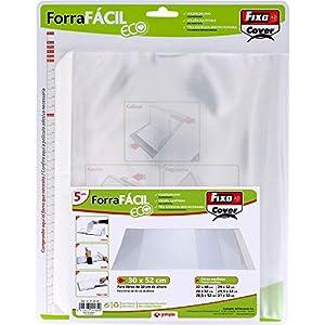 Fixo Cover 01014500-Blister de 5 Forra Fácil Eco con solapa ajustable de 300 x 520 mm