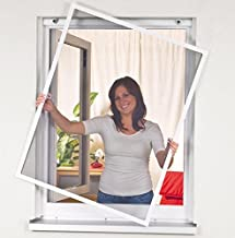 Mako Easy Life 886005A Anti-Insect Raamscherm met Aluminium Frame 120 x 140 cm Wit