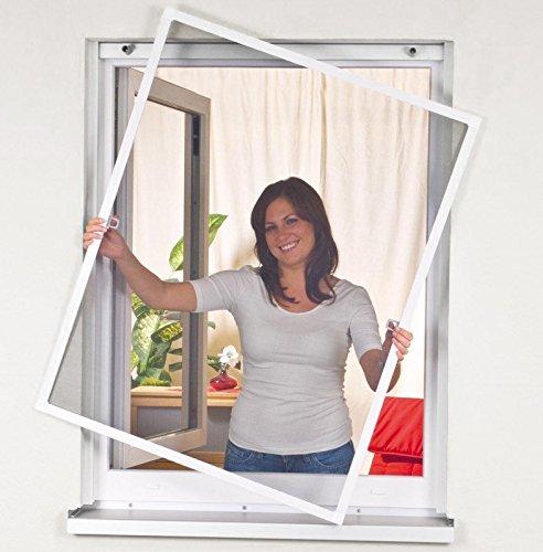 Mako easylife 886005A Insektenschutz Fenstergitter Alurahmen 120 x 140 cm, weiß