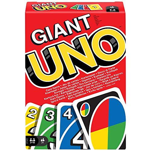 Mattel Games GRL91 UNO Giant Kartenspiel für die ganze Familie mit 108 übergroßen Karten
