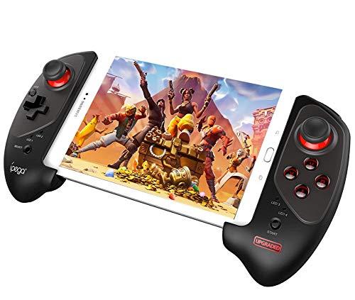QKa Gamepad Wireless con Joystick con Supporto Telescopico da 5-10 Pollici per Scatola TV per Telefono Cellulare/Tablet/Android/iOS/Android