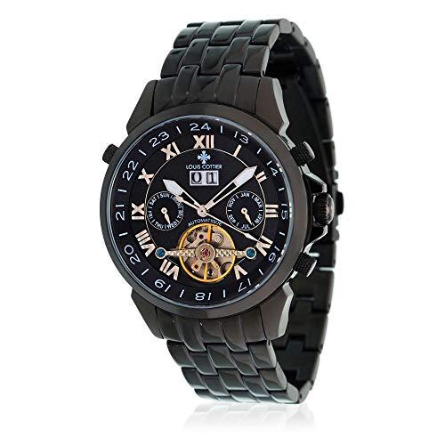 Louis Cottier - Montre Vision Bracelet métal Cadran Noir - HB3321C1BM2