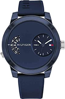 Tommy Hilfiger Denim Men's Navy Dial Silicone Band Watch - 1791556