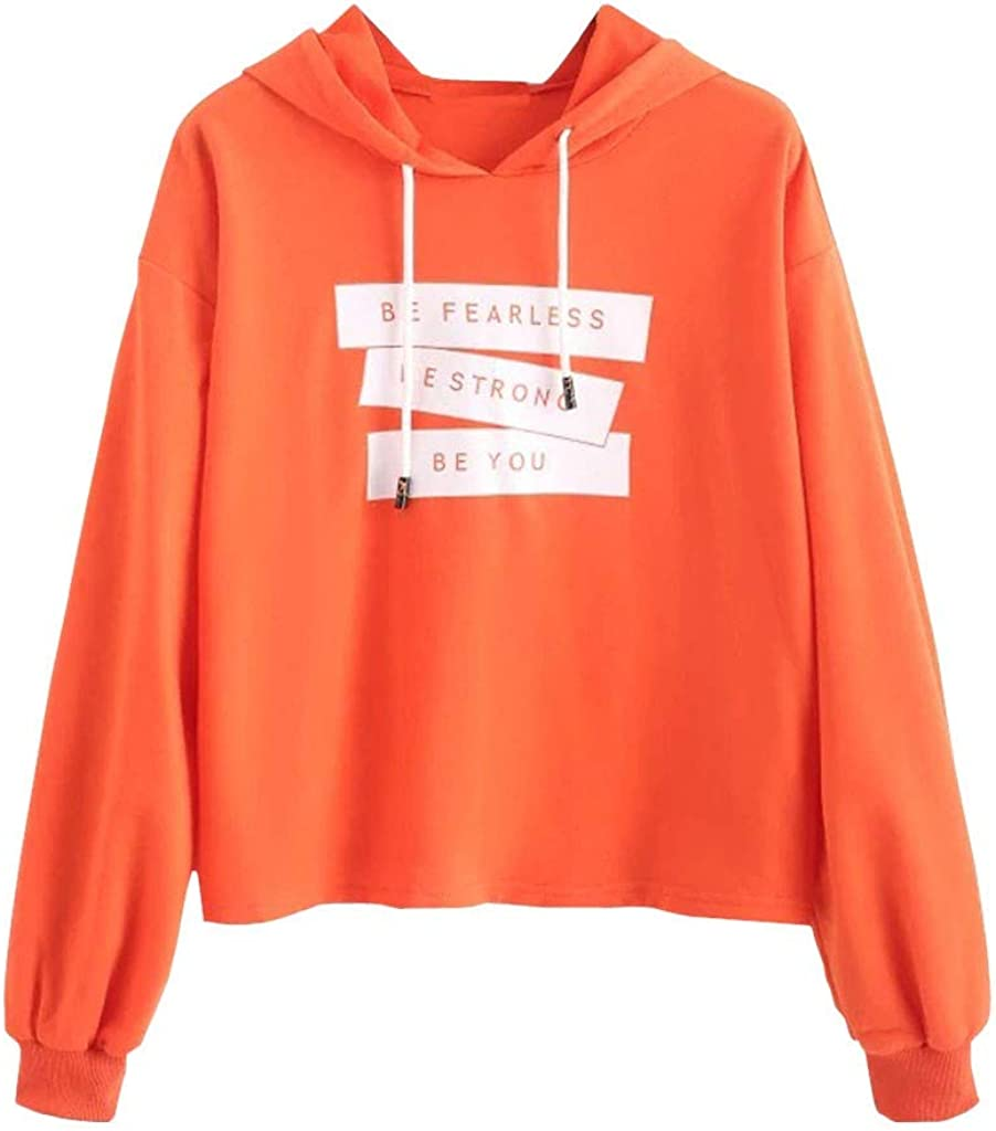 Girls' Hoodie, Misaky Hooded Pullover Sweatshirt Autumn Winter Casual Letter Print Long Sleeve Tops Blouse