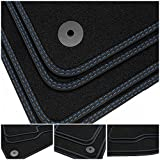 tuning-art BDN269 Alfombrillas de Doble Costura para Volvo V70 XC70 P24 2007-2016, Costura:2X Azul