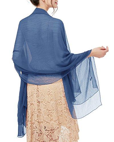 bridesmay Damen Strand Scarves Sonnenschutz Schal Sommer Tuch Stola für Kleider in 29 Farben Dark...