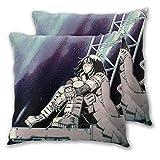 N / A Pillow Cover,Identity-Battle Angel Alita Gu-Nnm Funda De Almohada, Fundas De Almohada Personalizadas para Dormir En Tren, Avión,2pcs/Set,45x45cm