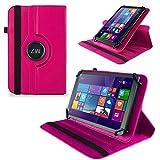 UC-Express Tasche Hülle Cover für Odys Wintab GEN 8 Hülle Tablet Schutzhülle Bag, Farben:Pink