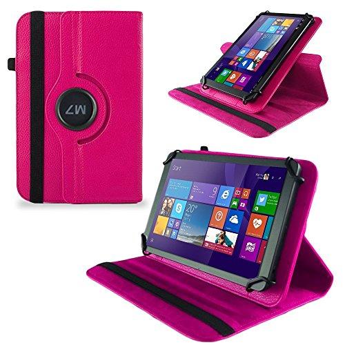 UC-Express Huawei MediaPad X2 Tasche Hülle Cover Hülle Tablet Schutz Schutzhülle Drehbar Bag, Farben:Pink