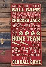 Adonis554Dan Take Me Out to the Ballgame Baseball Nursery Decor Subway Art Wooden Sign 12