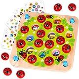 Nene Toys - Juego de Memoria Infantil de Madera para Niños y Niñas 3 4 5 años con 10 Divertidos Diseños – Colorido Juguete Educativo Estimula la Memoria y el Desarrollo Cognitivo