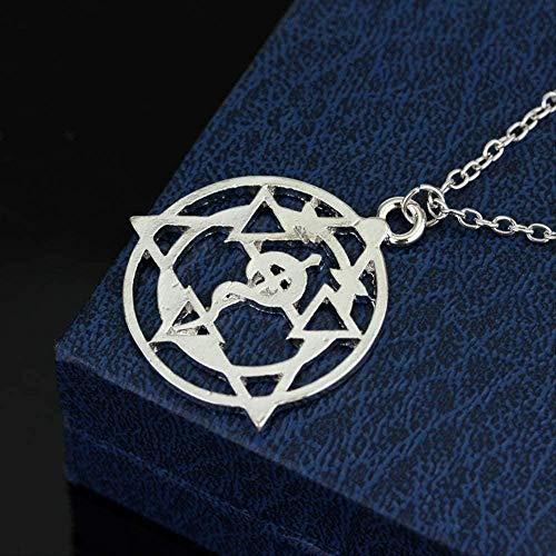 JSYHXYK Collar Collar Anime Fullmetal Alchemist Symble Gargantilla Collares Colgantes Edward Hollow Magic Circle Collar Colar