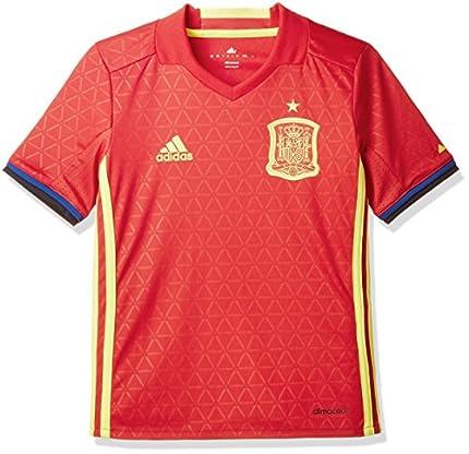 adidas FEF H JSY Y Camiseta Selección Española de Futbol 1ª Equipación 2016/2017, niño, Rojo/Amarillo/Azul (Escarl/Amabri), 140