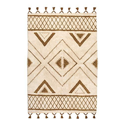 Vivaraise - Tapis Sami – 100% Coton, Aspect Laine – Décoration Tendance – Style berbère – Finition à Pampilles