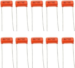 Almencla 10pcs Tone Capacitors Orange .022uf 600v 223J for Electric Guitars Bass Parts
