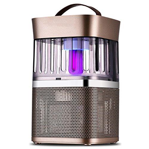 Iashion Moskito-Insekten-Killer-Lampe, Moskito-Innenfalle-Stumm-LED-Lichtsteuerungs-Beweglicher Insektenabwehr-Fliegen-Fänger, Verhindern Moskitobisse,Gold