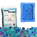 SENSORY4U Original Dew Drops Water Beads Plus Inflatable Bin 22 x 17 inches- Soothing Colors - A Calming Sensory Experience - 5 Colors Red Purple Dark Green Light Green and Blue