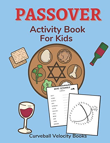 Passover Activity Book for Kids: Puzzles for Kids Aged 6-12