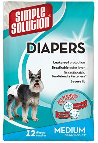 simple solution 738982/1988 simple solution Einfache Lösung Einweg Hund Windeln, 12je Zählen-Größe M