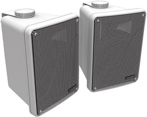 Kicker KB6000 2-Way Full Range Indoor Outdoor Marine Speakers (Pair) | Weatherproof Patio, Sunroom,...