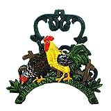 Sungmor Soporte de manguera de hierro fundido para trabajo pesado, jardín y patio Decorativo para pájaros Butler de manguera montado en la pared, sujetadores de tubería de agua, estante, percha