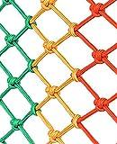 Sicherheitsflachnetz, Baustellenschutz, Absturzsicherung, Flammhemmendes Weißes Netz, Außenrahmen Nach Nationalem Standard, Picknetz, Horizontales Taschennetz, Isolationsnetz, Gartenzaunne(Size:1x1m)