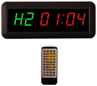 """Eu 1.5"""" 6 Digits Interval Timer Programmable Led Countdown / Up Stopwatch For Home Gym."""