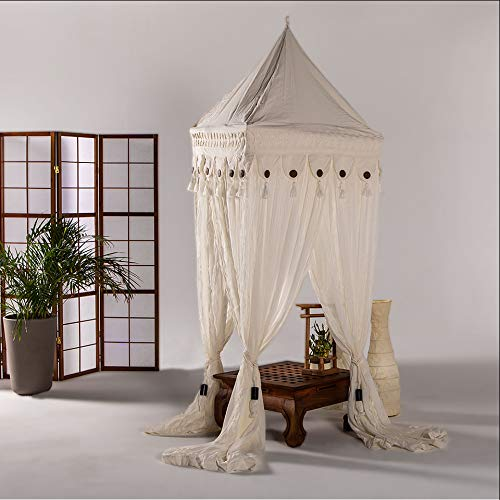 Bali4you Bali Baldachin Scheherazade 80x80x200 Moskitonetz 100% Cotton inkl. 4 Quasten Betthimmel
