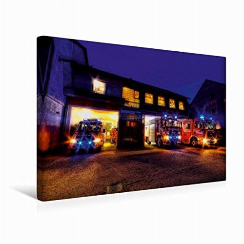 CALVENDO Premium Textil-Leinwand 45 cm x 30 cm quer, EIN Motiv aus dem Kalender Einsatzfahrzeuge   Wandbild, Bild auf Keilrahmen, Fertigbild auf echter Leinwand, Leinwanddruck Technologie Technologie