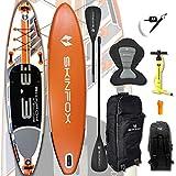 SKINFOX Turtle ALU-Set (335x80x15) 4-TECH L-CORE SUP Paddelboard orange - Farbe: orange - Groesse: Board,Bag,Pumpe,ALU-Paddle,Leash,Kayak-Seat
