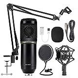 Jinghengrong BM800 micrófono de Condensador de Estudio Kit de suspensión Brazo de Tijera Estudio de grabación del micrófono de Radiodifusión