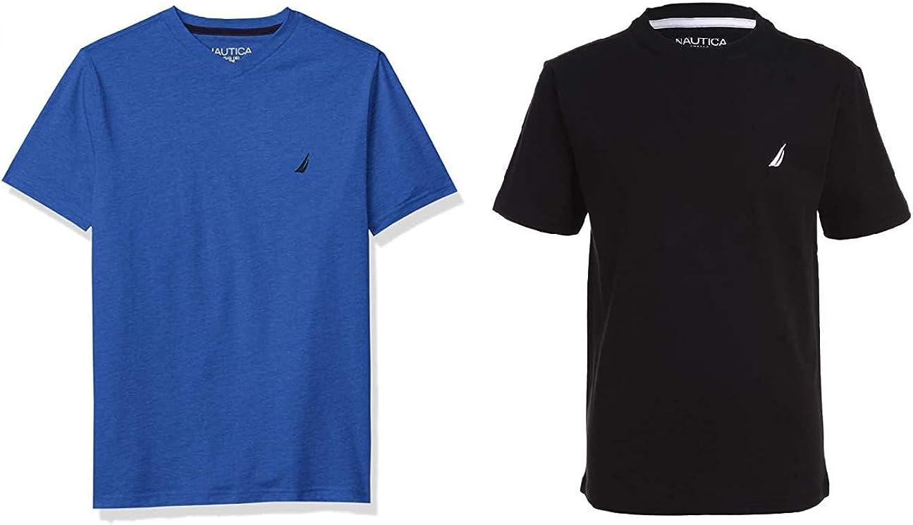 Nautica Boys' 2-Pack Short Sleeve Solid T-Shirts