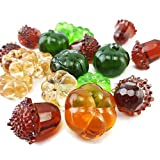 HappyFiller Mini Artificial Acrylic Pumpkin Gems Vase Fillers,Plastic Acorn Nuts for Table Scatters,Crafts