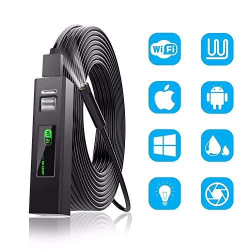 QinLL 1200P Full HD Mini Android Endoscopio Telecamera IP67 1920 * 1200 1M Micro USB Ispezione Videocamera Serpente Borescope Tube con 8 LED Regolabili, BB