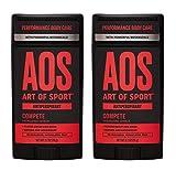 Art of Sport Men's Antiperspirant Deodorant (2-Pack) - Compete Scent - Antiperspirant for Men with...