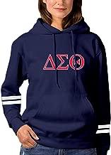XIAOJIN Delta Sigma Theta Long Sleeve Pockets Pullover Hoodie Sweatshirt for Women