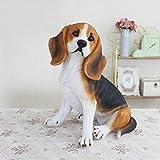HTRA Estatuas Simulación Decoración para Perros Bigger Beagle Modelo Living Room TV Cabinet
