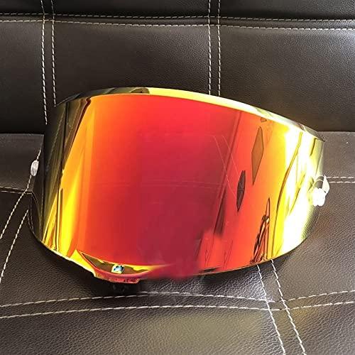 Anti-explosión UV Protección Casco de Motocicleta Sun Visor Goggles Lens Fit for AGV Pista GP RR Corsa R GPR 7 0 Aniversario (Color : Orange)