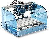 SainSmart Genmitsu CNC Router Machine 3018-PROVer Mach3 con Control Mach3, Interruptores de Límite y Parada de Emergencia, Fresadora de Plástico Acrílico PCB PVC para Tallar Madera