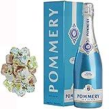 Champagne Pommery - Sky Blu funda bajo 150g nougadets y Hazel - Jonquier Two Brothers