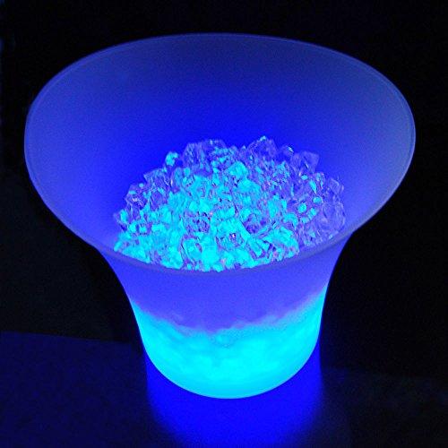 LOVIVER Secchiello Porta Ghiaccio LED Luminosi Raffredda Bottiglie Contenitore Vino Birra 5L in Plastica
