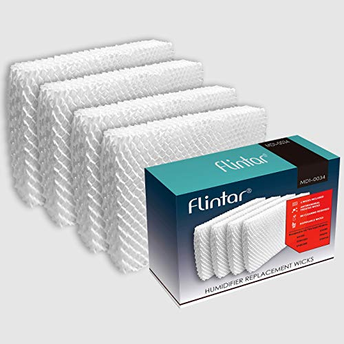 Flintar MD1-0034 Humidifier Replacement Wick Filters, Compatible with Vornado Evaporative Humidifier Model Evap40, Evap2, EV100, EV200, EVDC300, EVDC500 (Not for Evap3), Part # MD1-0034 (4-Pack)