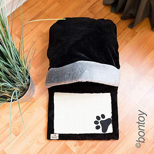 Bontoy Katzenhöhle PIA schwarz/grau 26 cm