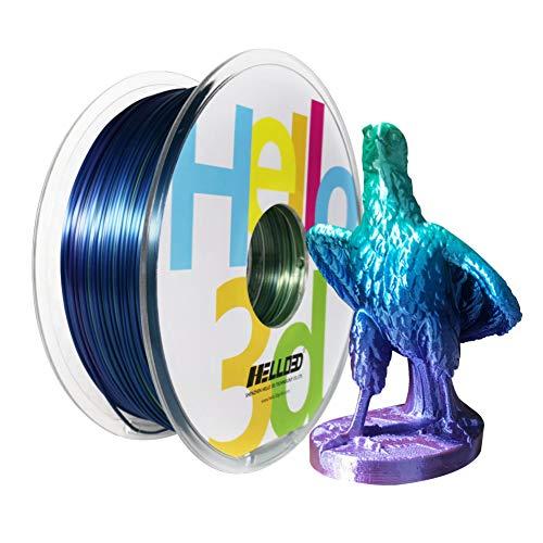 Filamento sedoso Kingfisher, impresora de impresión 3D, filamento multicolor sedoso arco iris....